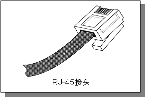RJ-45 接头示意图